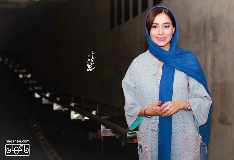 عکس مدل مانتو بهاره کیان افشار بازیگر فیلم بارکد