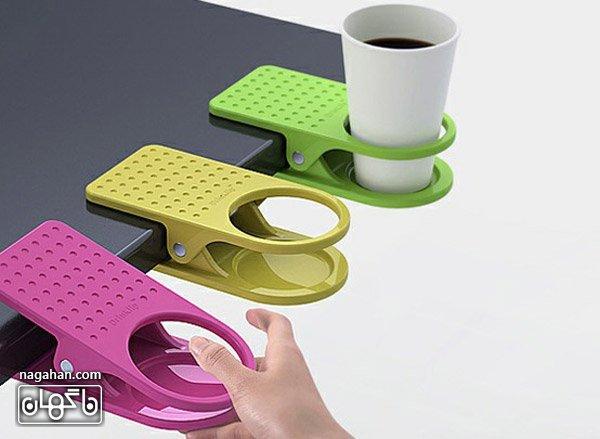 عکس نگهدارنده ماگ و فنجان در میزهای کوچک و جلوگیری از ریختن آنها