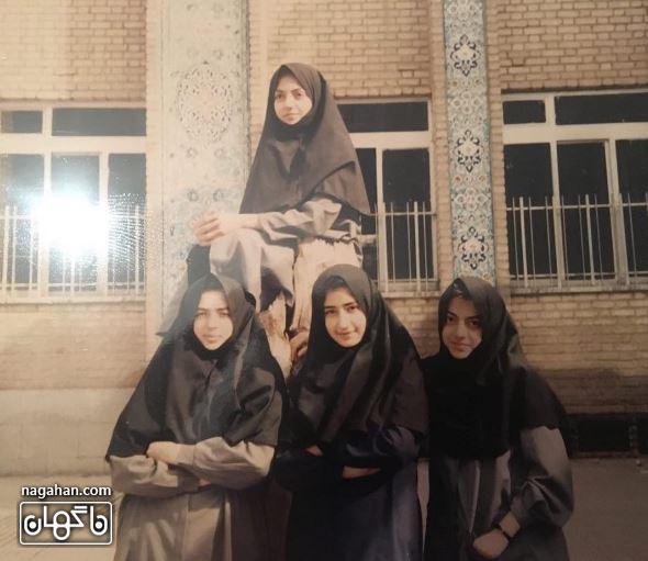 عکس قدیمی مهناز افشار در دوران نوجوانی و مدرسه