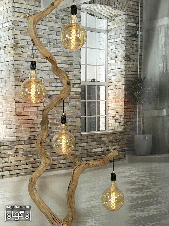 آباژور مدرن و خاص برای چیدمان اتاق پذیرایی و سالن شکل حباب