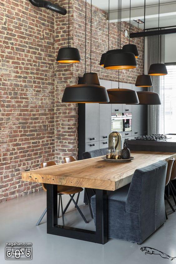 لوستر آشپزخانه و چراغ آویز مدرن رنگ مشکی