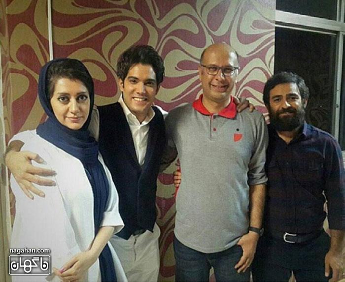 عکسامیر علی نبویان به همراه همسرش بها ر و محمد بحرانی در برنامه خندوانه