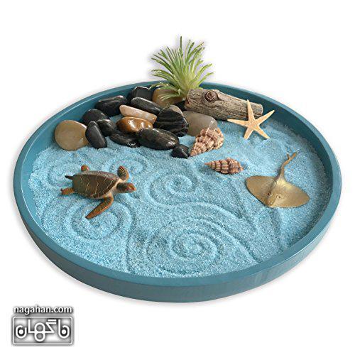 جعبه رومیزی برای مدیتیشن و آرامش یا باغ ذن ( zen garden) 2
