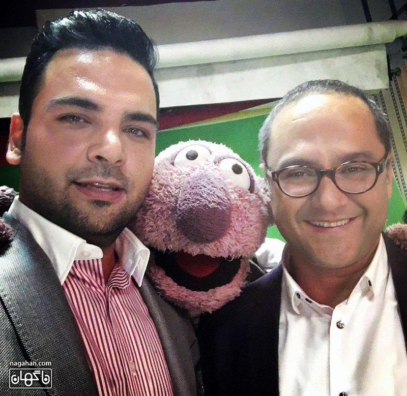 احسان علیخانی و جناب خان در پشت صحنه خندوانه