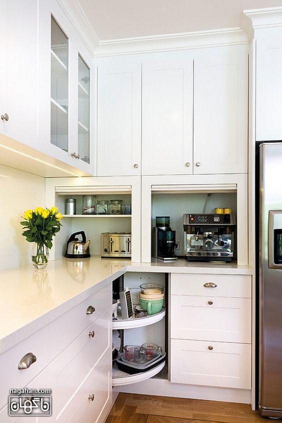 مدل کابیت و بین کابینتی ساده برای آشپزخانه کوچک