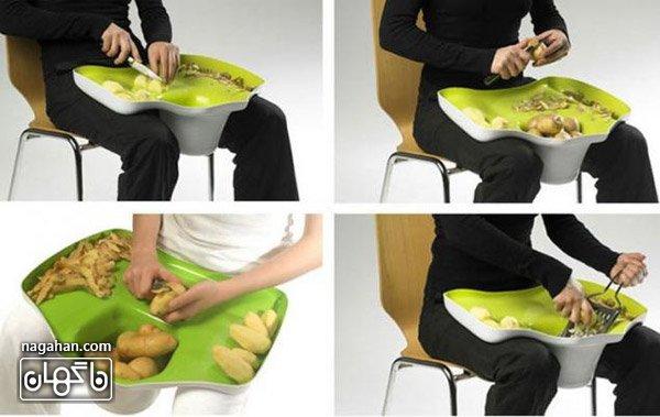 عکس پوست کندن آسان تر سیب زمینی