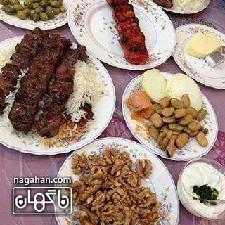 کباب ترش ، گردو ، باقلی و اشبل _ غذای محلی گیلان