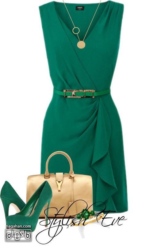 پیراهن سبز زمردی