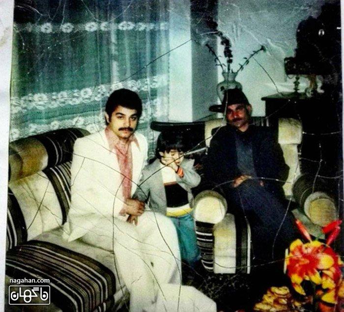 عکس پدر شهاب حسینی و کودکی شهاب حسینی