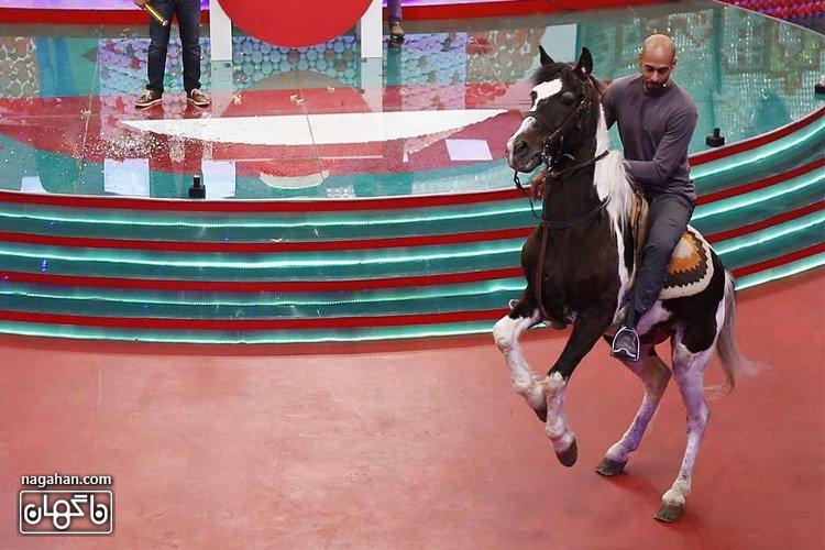 ورود ارشا اقدسی با اسب