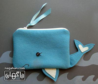 جامدادی طرح نهنگ آبی