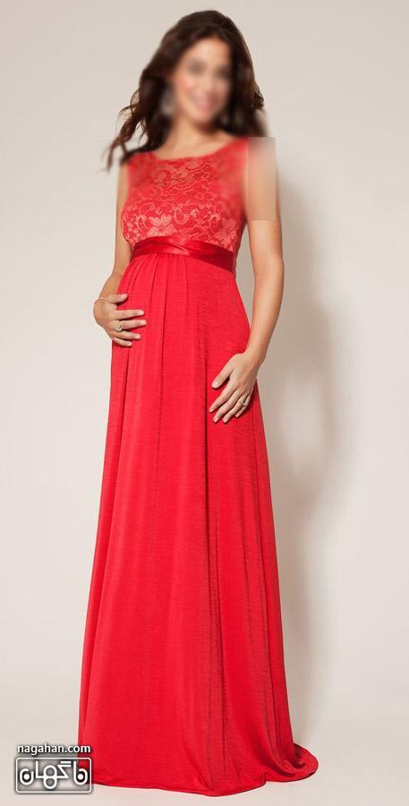 عکس لباس بارداری قرمز