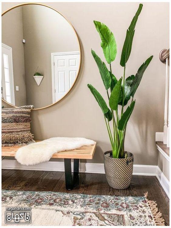 مدل میز کنسول و آینه بزرگ برای ورودی خانه
