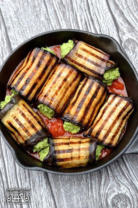 روش تهیه بادمجانکانلونی ، غذای ایتالیایی مخصوص گیاهخواران و دارندگان رژیم لاغری