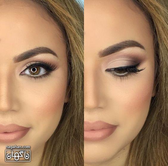 عکسمدل آرایش صورت ، آرایش ابرو و آرایش چشم عروس | مدل رنگ مو ، مش و آمره 2017 8