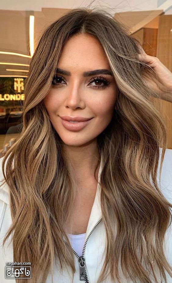 عکس مدل مو بلند روشن