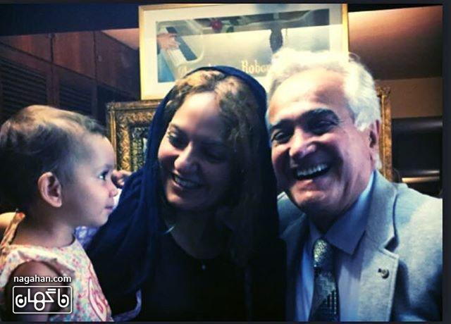عکسمهناز افشار و دخترش با انوشیروان روحانی