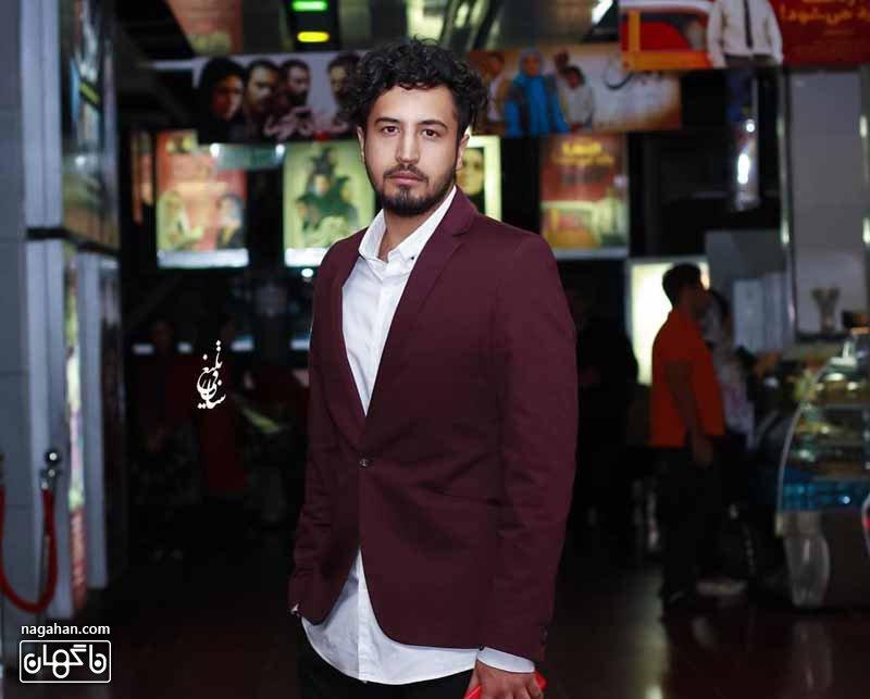 عکس مهرداد صدیقیان در فرش قرمز فیلم سینمایی بارکد