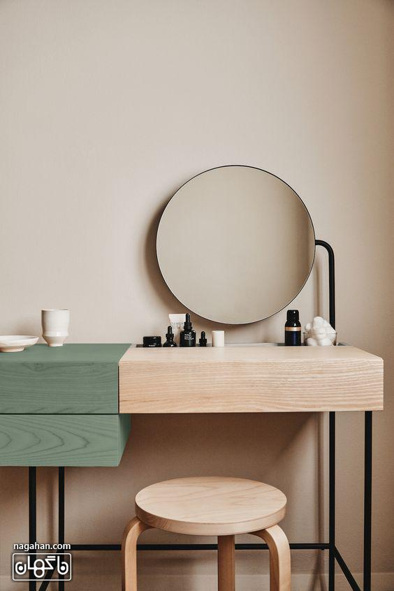 عکس مدل میز توالت مدرن در طراحی داخلی