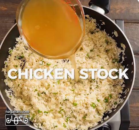 آب مرغ برنج مکزیکی