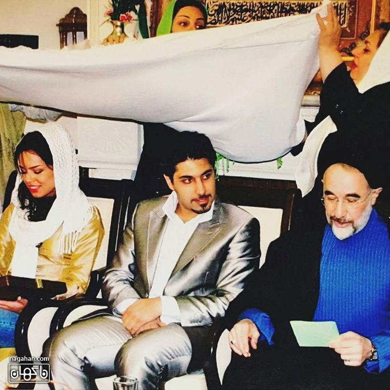 عکس عروسی احسان خواجه امیری و همسرش