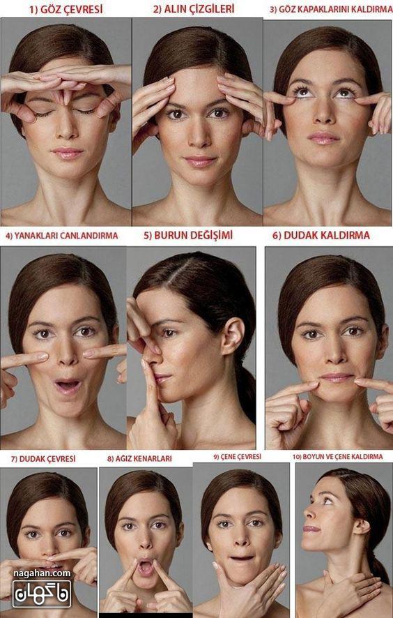 مراحل گام به گام و تصویری یوگا صورت برای آب کردن چربی صورت