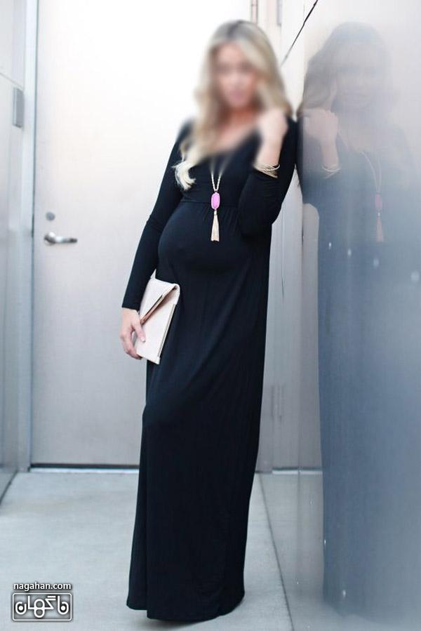 عکس لباس حاملگی ریون مشکی