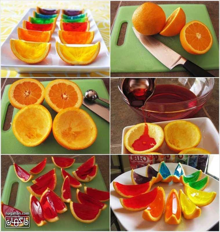 آموزش ژله در پوست پرتقال