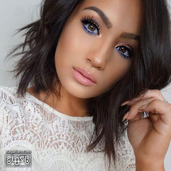 عکسمدل آرایش صورت ، آرایش ابرو و آرایش چشم عروس | مدل رنگ مو ، مش و آمره 2017 4