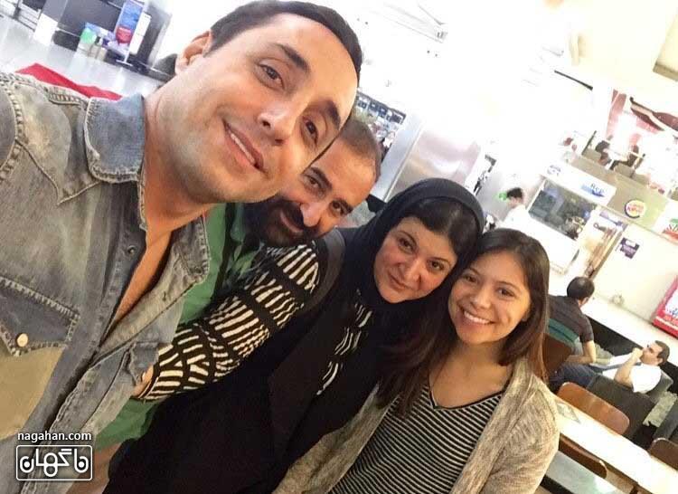 عکسامیرحسین رستمی، ریما رامینفر و مهران احمدی ساعاتی قبل از حملات تروریستی در فرودگاه استانبول