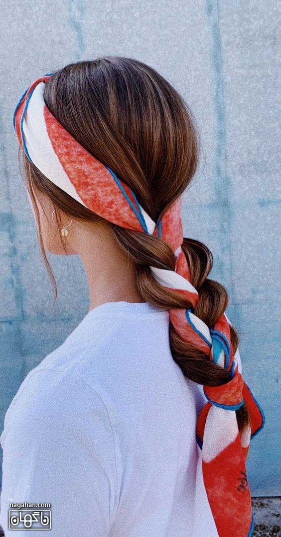 مدل گیس و هدبند دخترانه با روسری