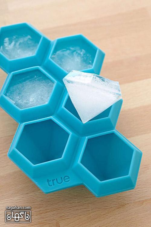 عکس قالب یخ طرح الماس