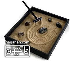 جعبه رومیزی برای مدیتیشن و آرامش یا باغ ذن ( zen garden) 3