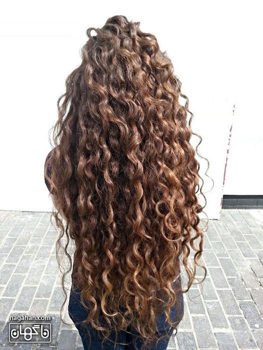مدل مو فر و مجعد و مدل رنگ مو ویژه بانوان شیک | مش ، آمره ، هایلایت و لولایت موهای فر