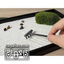جعبه رومیزی برای مدیتیشن و آرامش یا باغ ذن ( zen garden) 1