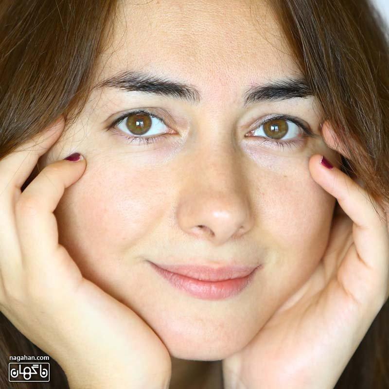 هانیه توسلی بدون آرایش