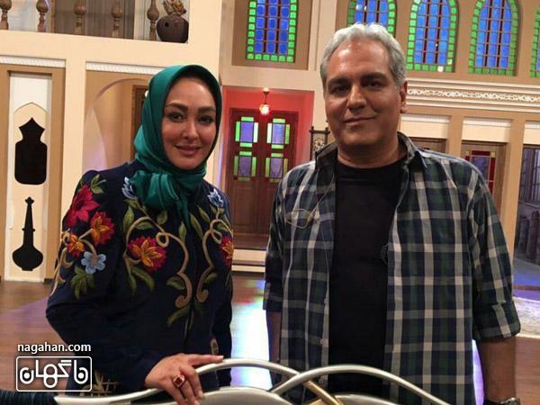الهام حمیدی و مهران مدیری