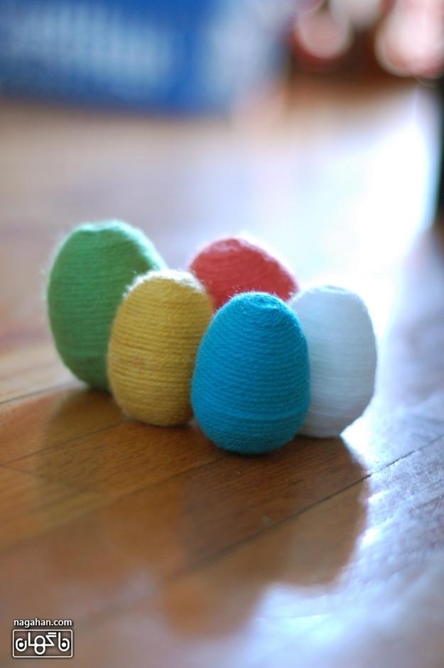 تزیین تخم مرغ کاموایی هفت سین نوروز