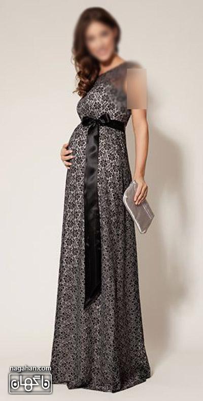 عکس لباس حاملگی سفید مشکی