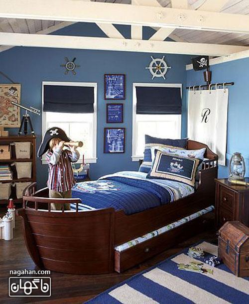 عکس اتاق کودک و مدل چیدمان طرح دزد دریایی- اتاق پسرانه