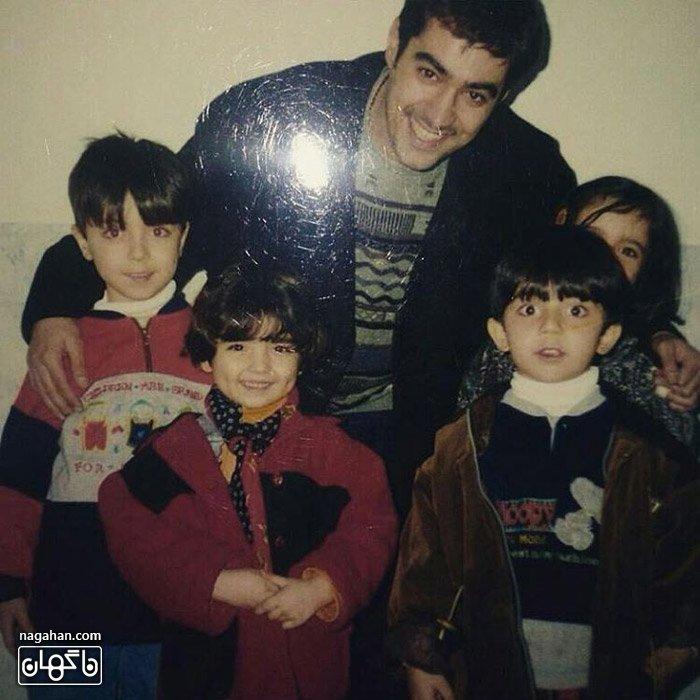 عکس شهاب حسینی به همراه بچه های فامیل
