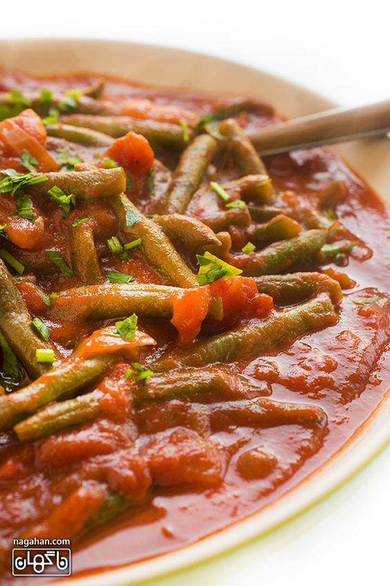 مواد تشکیل دهنده خوراک لوبیا لبنانی ، غذای سالم