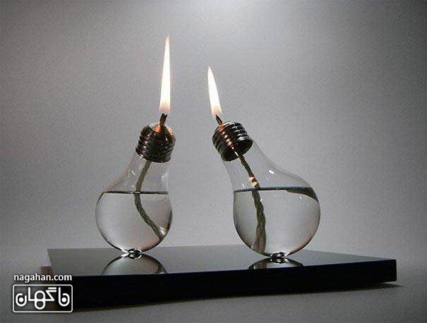 عکس چراغ الکلی به شکل لامپ