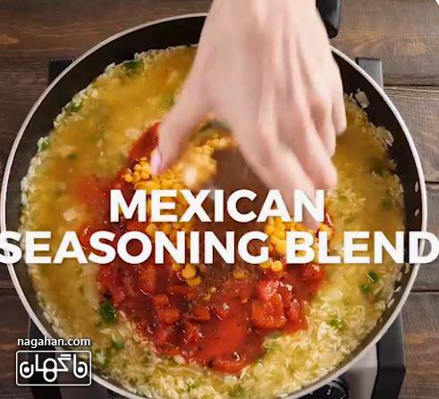 درت در برنج مکریکی