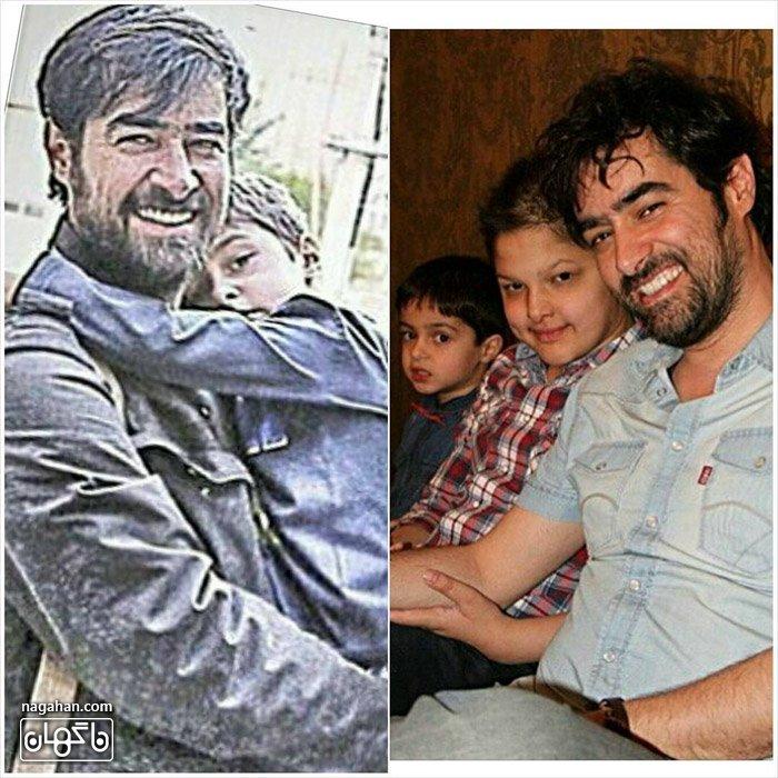 عکس شهاب حسینی و پسران شهاب حسینی