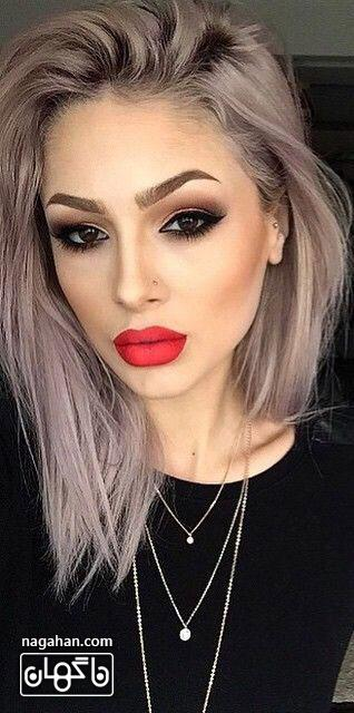 عکسمدل آرایش صورت ، آرایش ابرو و آرایش چشم عروس | مدل رنگ مو ، مش و آمره 2017 7