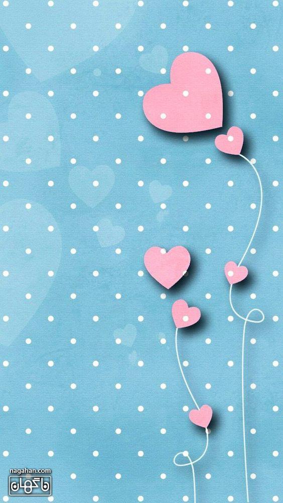 عکس های پروفایل و والپیپر عاشقانه ولنتاین- قلب های صورتی فانتزی