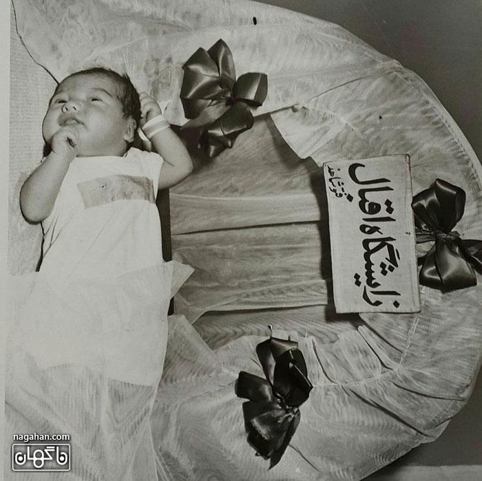 عکس نوزادی آناهیتا همتی در روز تولد او