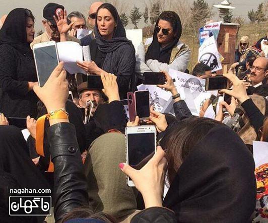 هدیه تهرانی کمپین