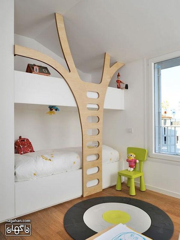 عکس اتاق کودک و مدل تخت خانه درختی - اتاق دخترانه و پسرانه